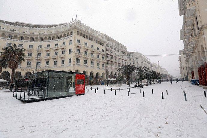 θεσσαλονίκη χιόνι
